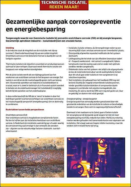 Gezamenlijke aanpak corrosiepreventie en energiebesparing - VIB Ondernemers in het Thermisch Isolatiebedrijf